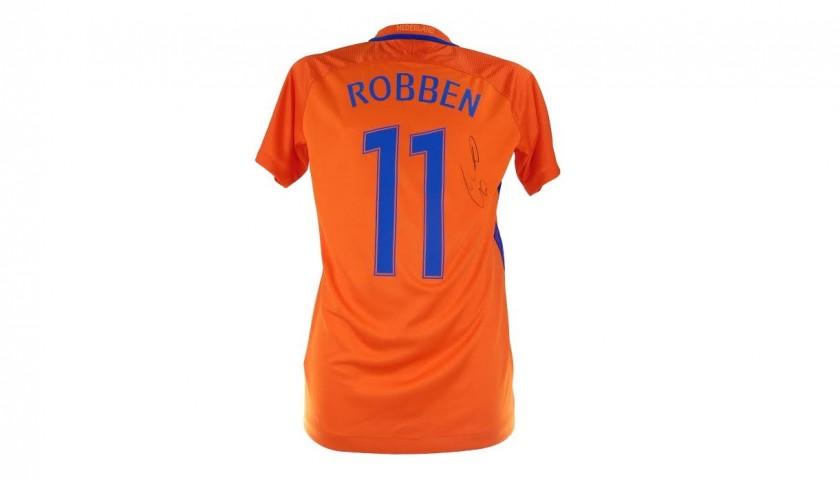 huge selection of 3ed8a fe450 Netherlands 2017 Football Shirt, Signed by Arjen Robben