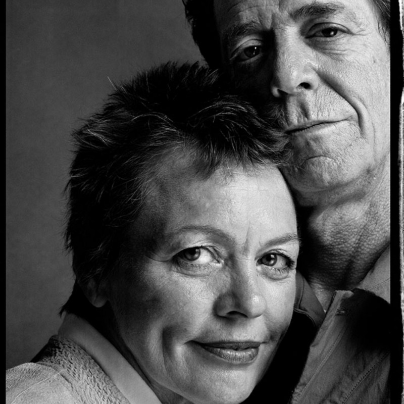"""""""Lou Reed and Laurie Anderson"""" - Photograph by Guido Harari"""