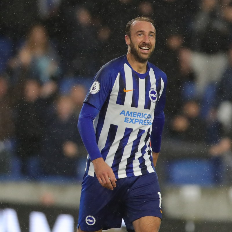 Glenn Murray's Brighton & Hove Albion Match-Issued and Signed Shirt, 2019/20
