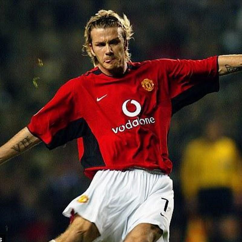Beckham's Official Manchester United Signed Shirt 2002/03