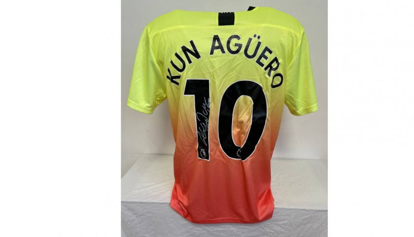 Aguero's Official Manchester City Signed Shirt, 2019/20