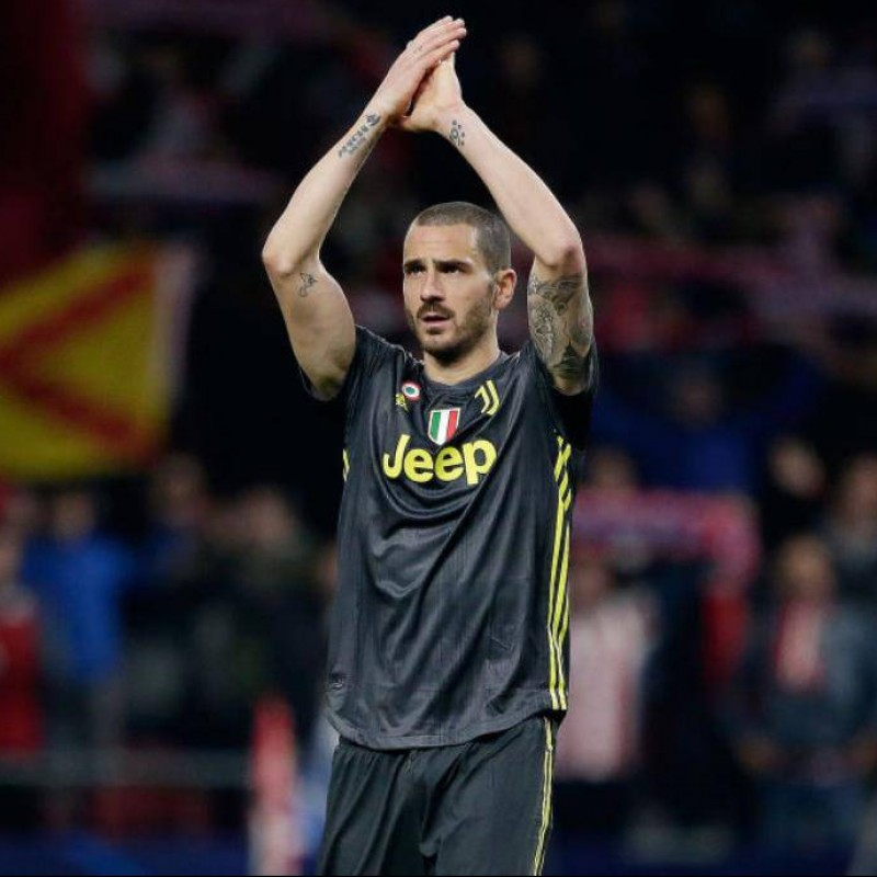 Bonucci's Worn and Signed Shirt, Atletico-Juventus 2019
