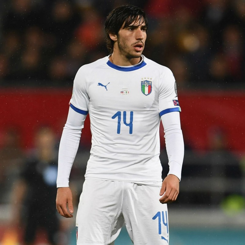 Tonali's Match Shorts, Liechtenstein-Italy 2019