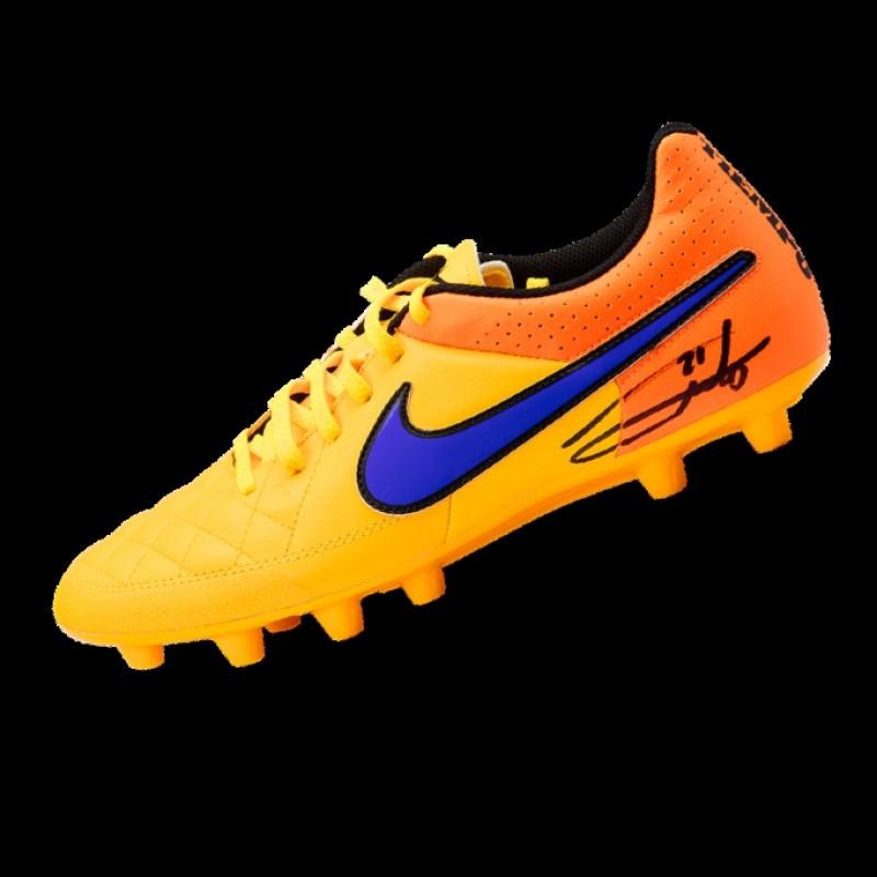 Andrea Pirlo – Signed Orange Nike Boot (1 Pair)