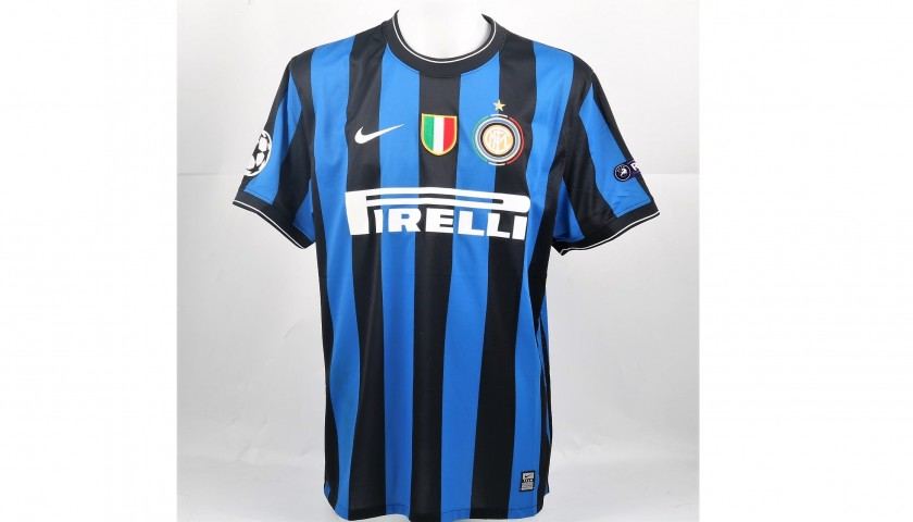 free shipping f8af9 3e63c Chivu's Match-Worn UCL 2009/10 Inter Shirt, UNWASHED - CharityStars