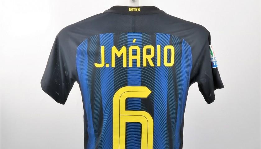 Joao Mario Match Worn Shirt, Inter-Lazio TIM Cup - UNWASHED