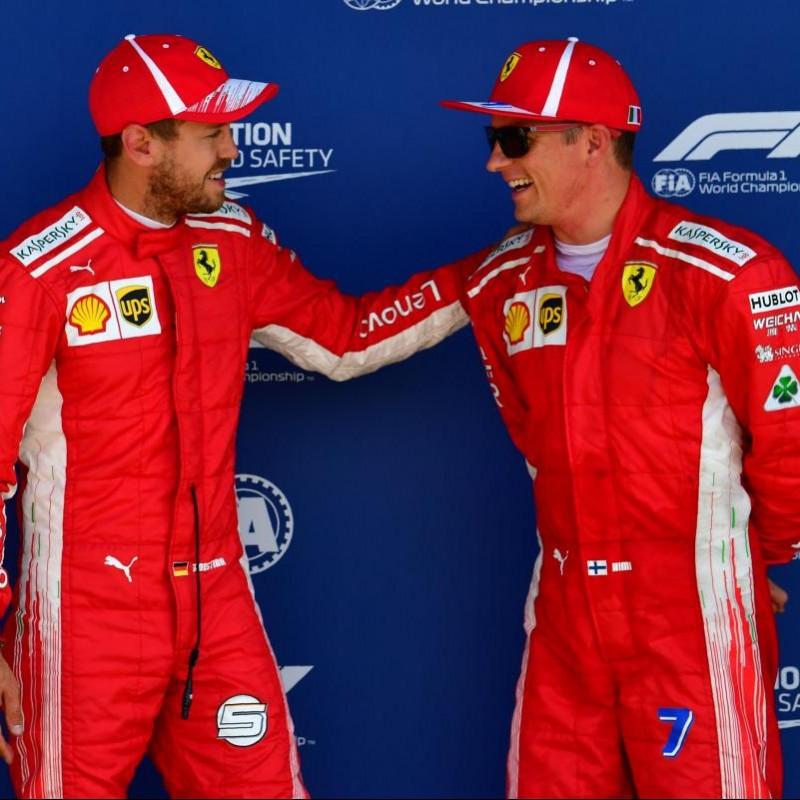 Ferrari Cap Signed by Raikkonen and Vettel