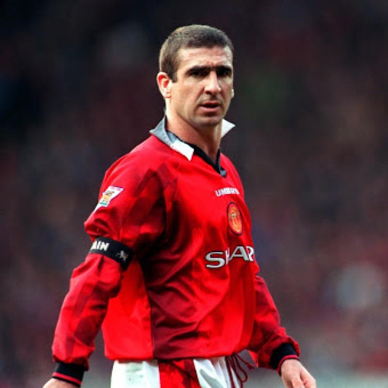 Manchester United Retro Shirt, 1963 - Signed by Cantona