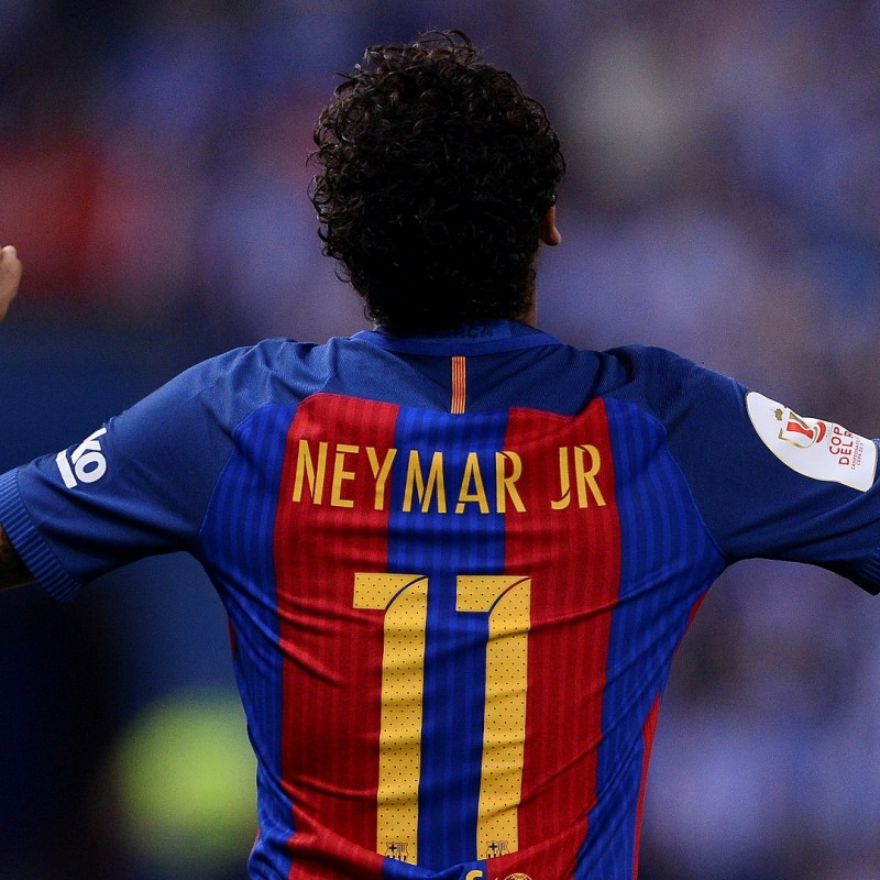 Neymar's Barcellona Shirt, Issued/Worn 2017 Copa del Rey Final