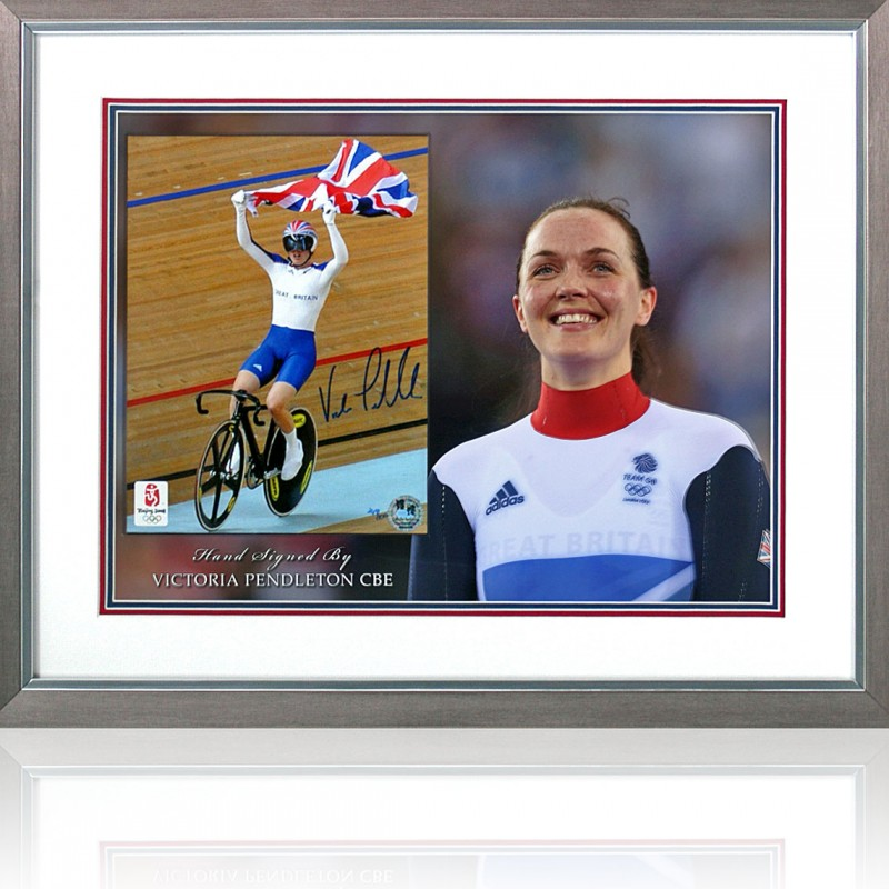 Victoria Pendleton Signed Olympic Cycling Presentation