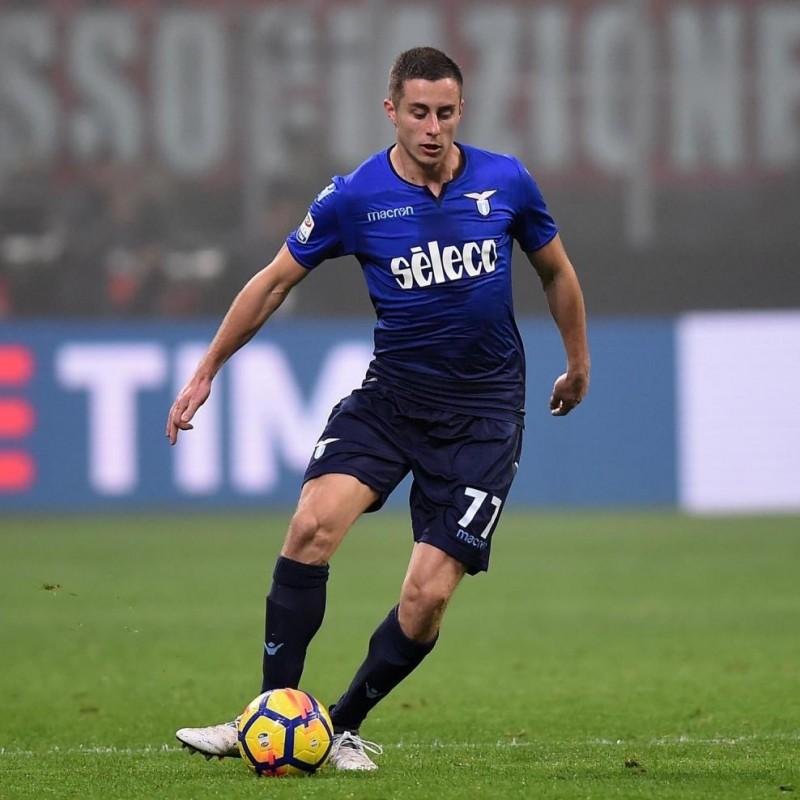 Marusic's Lazio Match-Issue/Worn Shirt, 2017/18