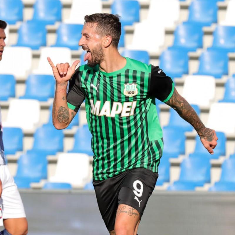 Caputo's Sassuolo Signed Match Shirt, 2020/21