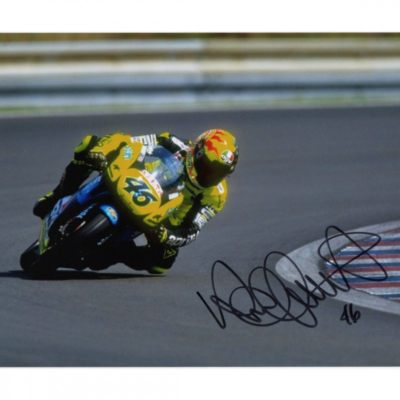 Valentino Rossi Signed Photograph - Brno 1996