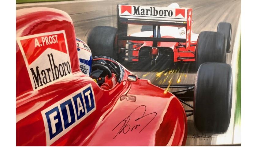 Signed Alain Prost and Ayrton Senna Original Art