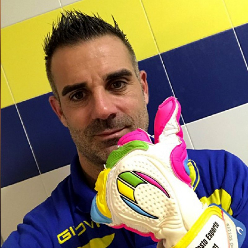 Sorrentino's Match-Worn Gloves 2017 Bologna-Chievo - #InCampoConSte