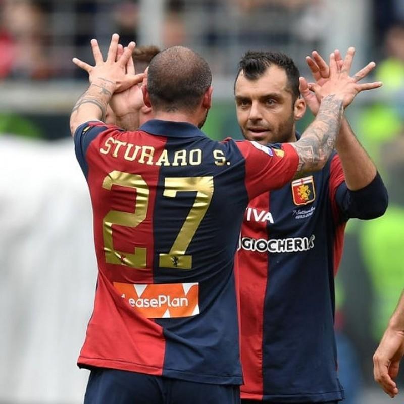 Sturaro's Genoa Match-Issue Signed Shirt, 2018/19