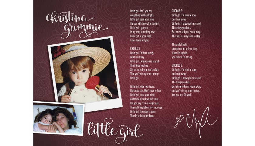 "Digitally Signed Limited Edition ""Little Girl"" Lyric Sheet"