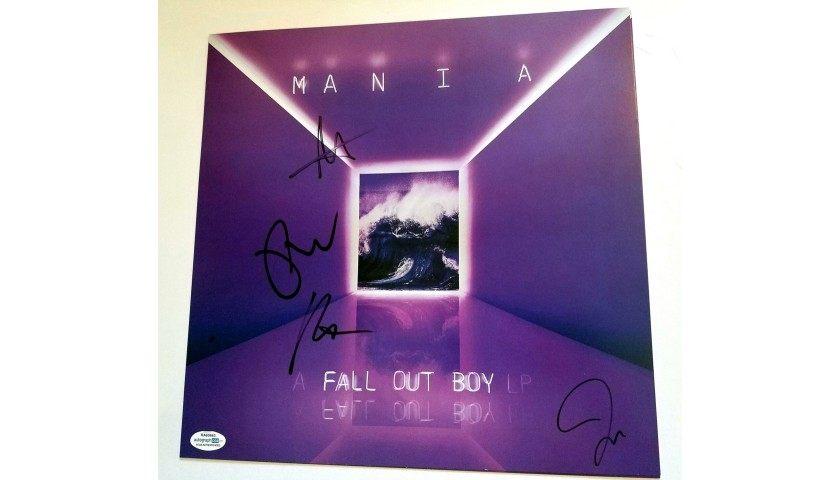 Fall Out Boy Hand Signed Record Album Flat Poster
