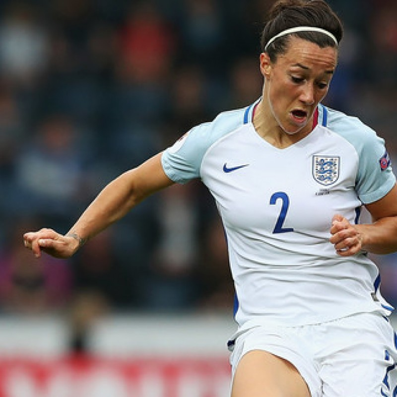 Lucy Bronze's Match Worn and Signed England 2016 Shirt