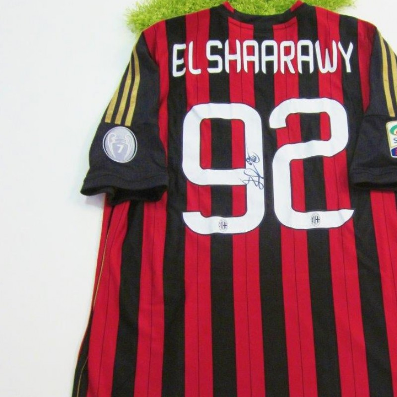 Milan shirt, Serie A 2013/2014 - signed by El Shaarawy