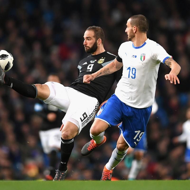 Bonucci's Match Shirt, Argentina-Italy 2018