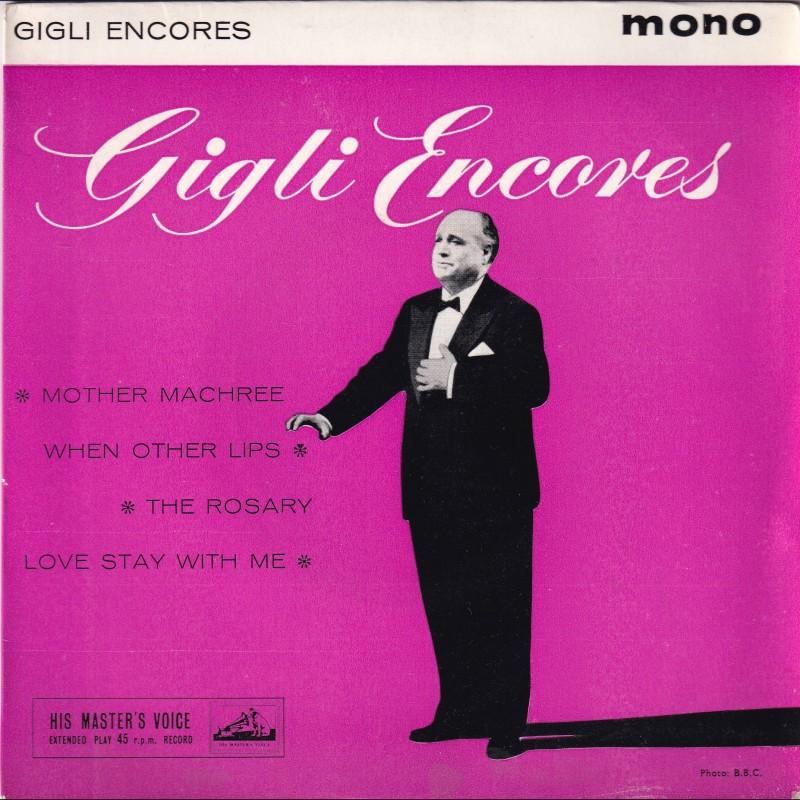 """Gigli Encores"" Vinyl Album - Beniamino Gigli, 1960"