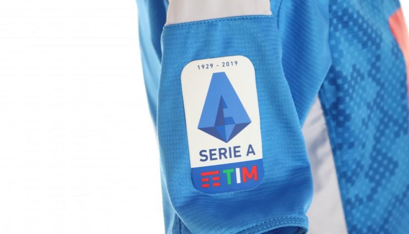 Milik's Worn and Signed Shirt, Napoli-Cagliari 2019