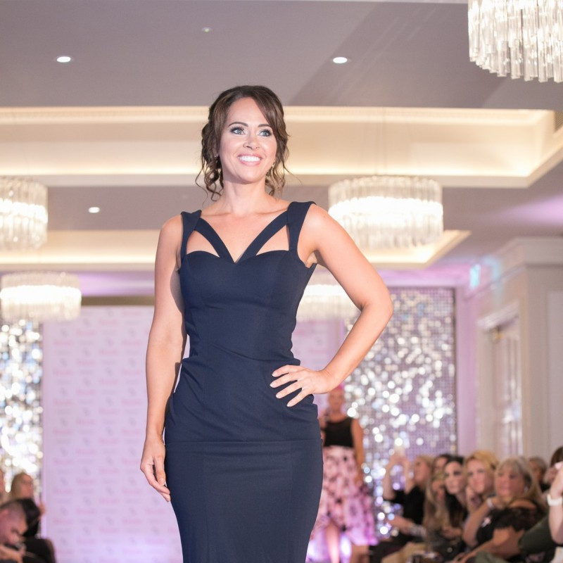 Navy Pia Michi Long Dress Worn by Hayley Sparkes