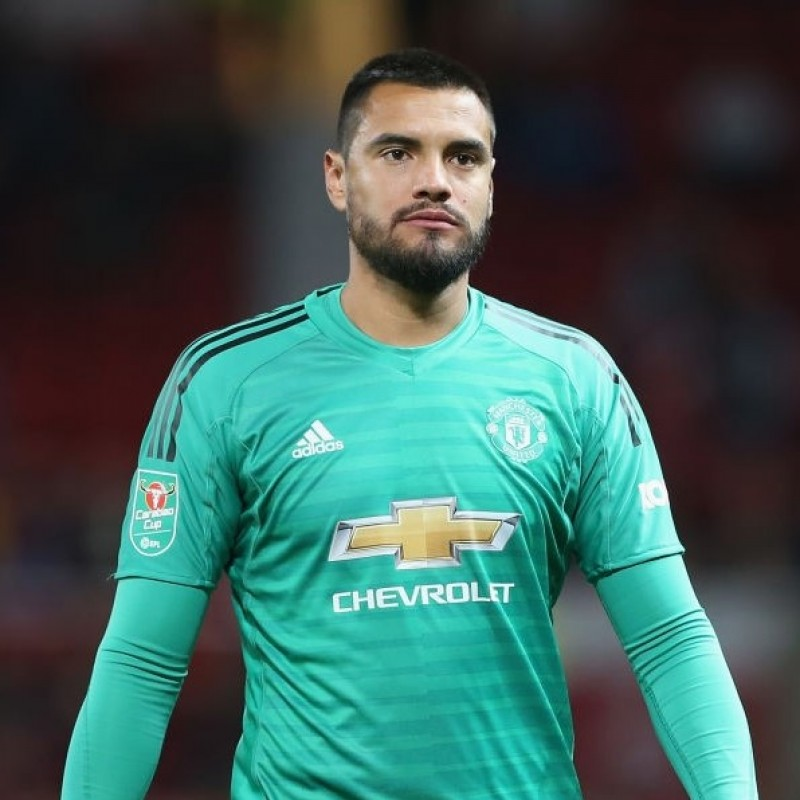 Romero's Match Shirt, Man Utd-Derby County 2018