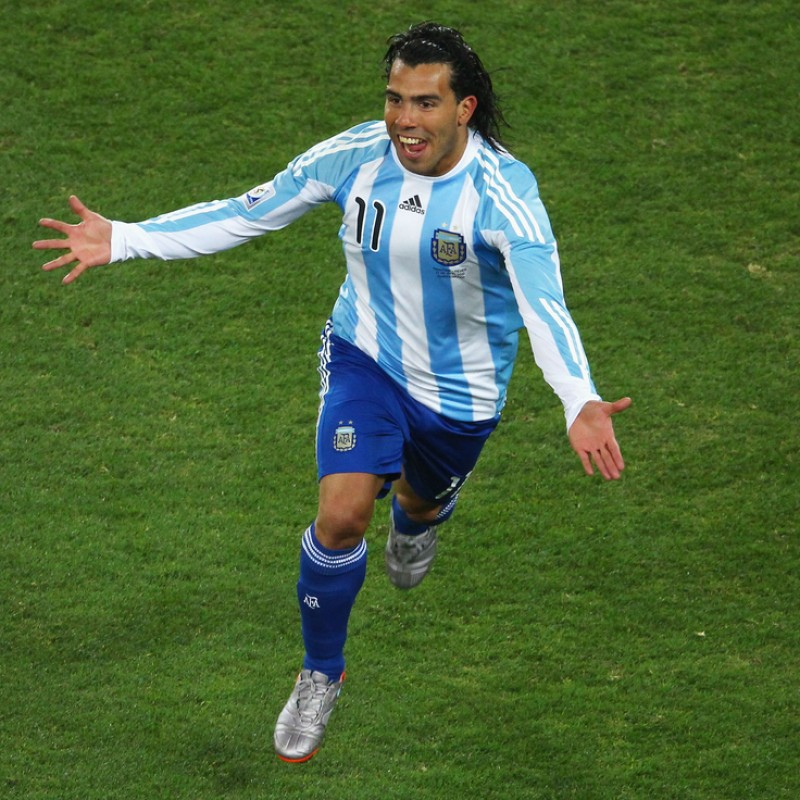 Tevez's Official Argentina Signed Shirt, World Cup 2010