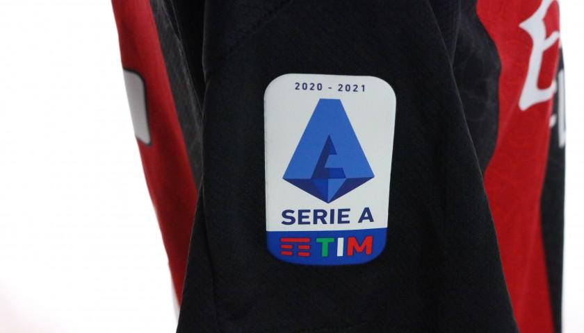 Hauge's Worn and Signed Shirt, Milan-Inter 2021