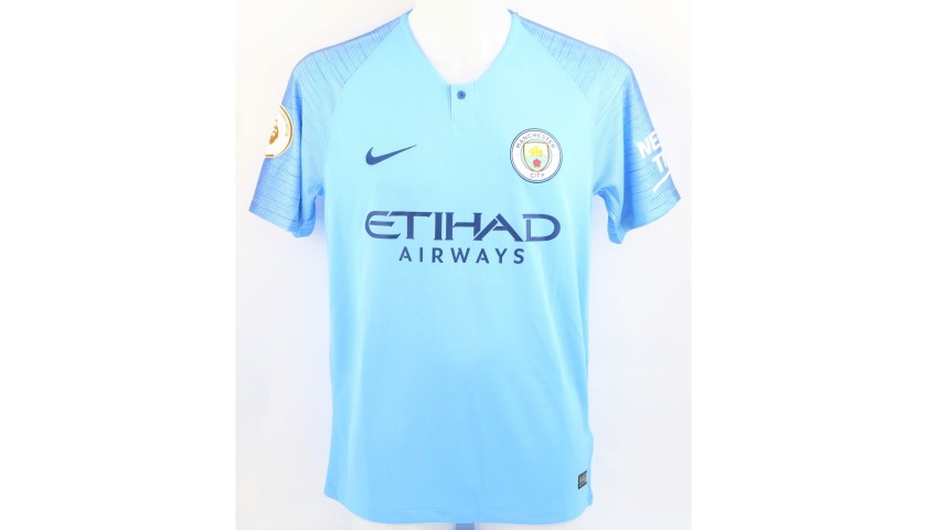 Aguero's Official Man City Signed Shirt, 2018/19