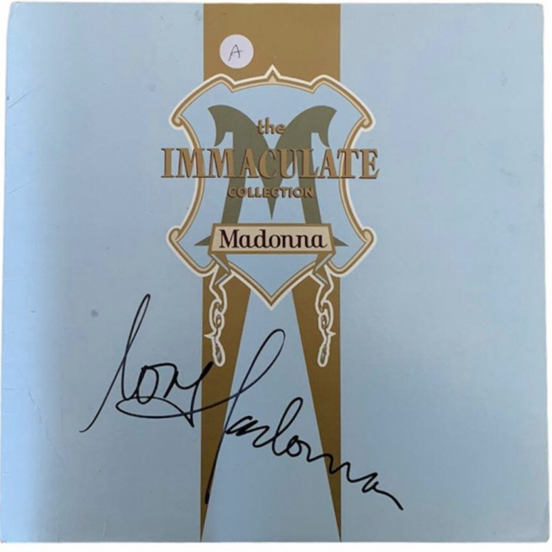 Madonna Signed The Immaculate Collection Vinyl LP