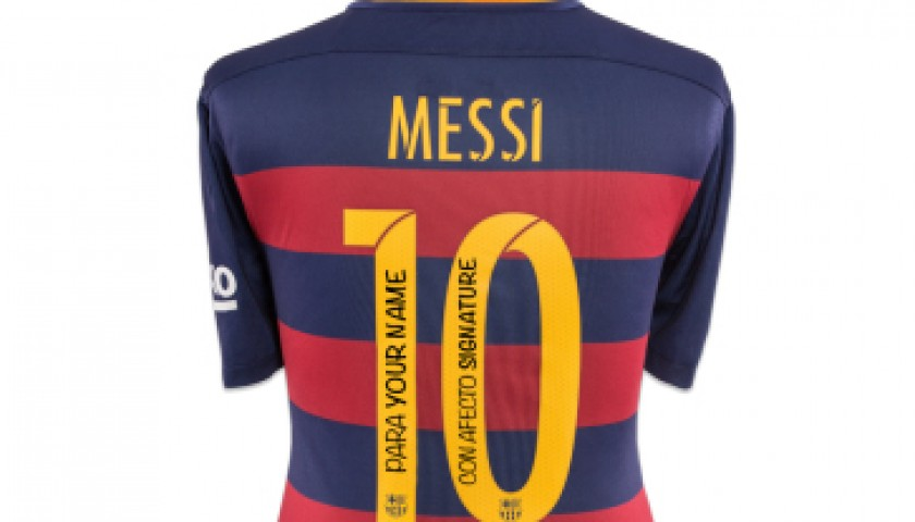 FC Barcelona Shirt with Personal Dedication from Lionel Messi