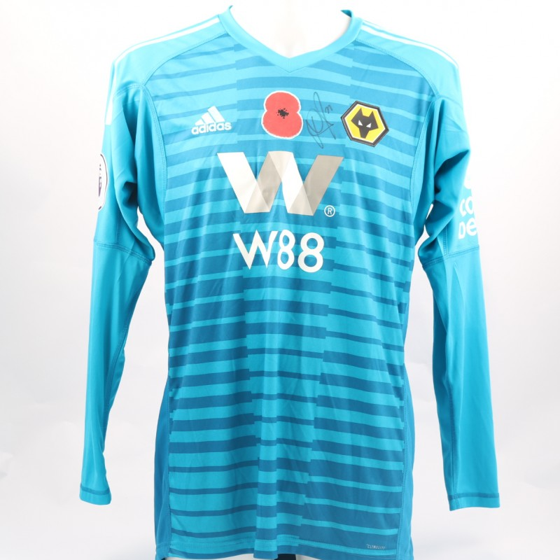 Ruddy's Wolves FC Issued and Signed Poppy Shirt