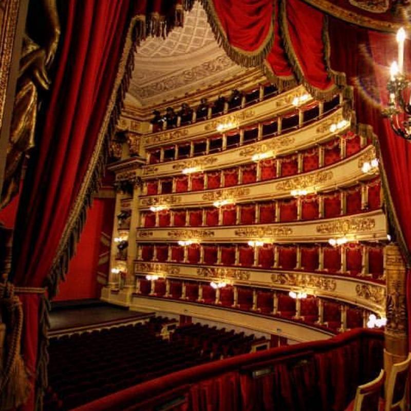 "A box for Giuseppe Verdi ""The two Foscari"" at La Scala in Milan"