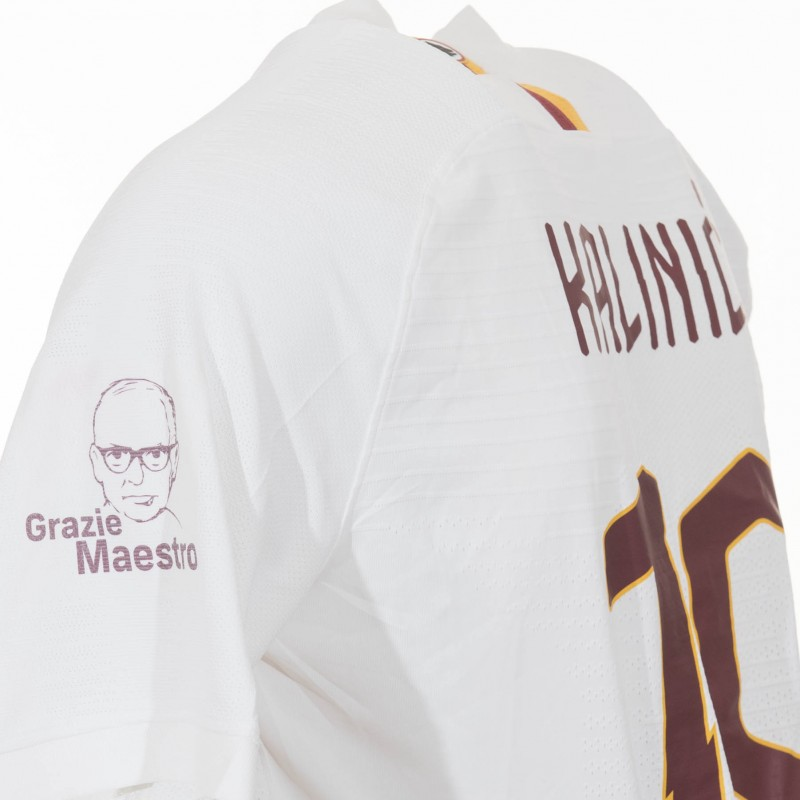 "Kalinic's Match-issued Shirt, Roma-Parma, ""Grazie Maestro"""