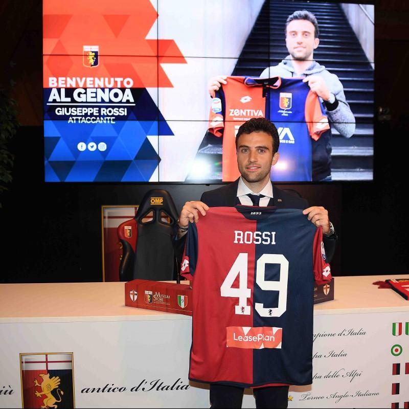 Giuseppe Rossi's Genoa Presentation Shirt, Signed