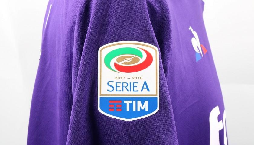 Pezzella's Signed Match-Worn Fiorentina-Genoa Shirt, UNWASHED