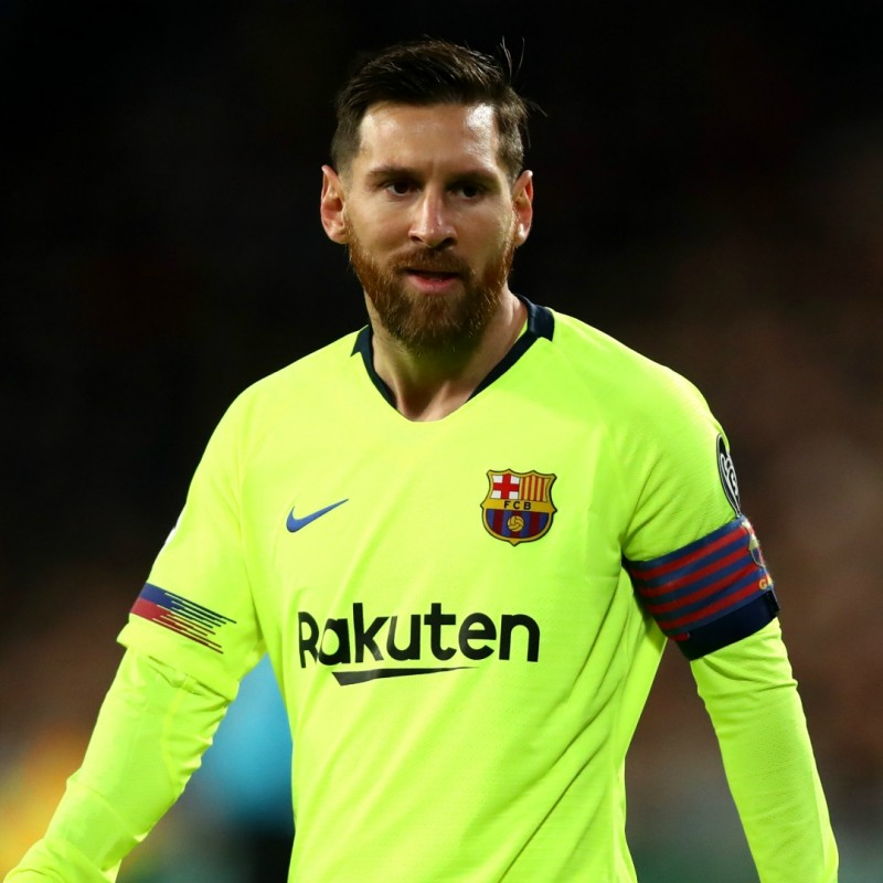Messi's Match-Issue/Worn Shirt, PSV-Barcelona 2018