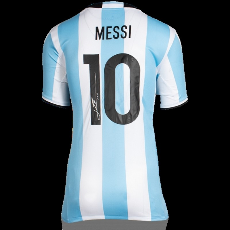 Lionel Messi Signed Argentina Jersey 2016-2017