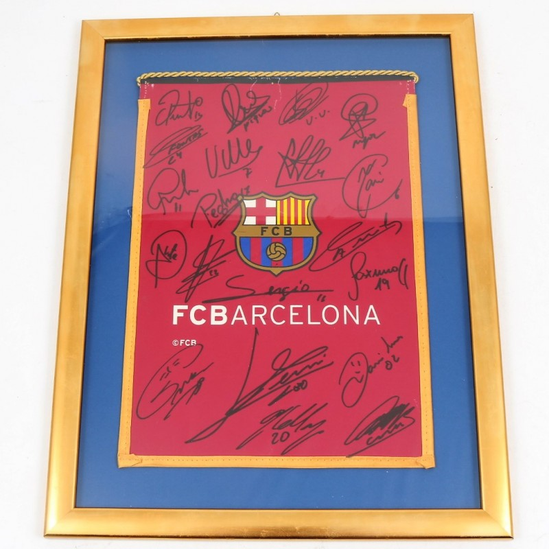 Barcelona FC 2011/2012 Pennant Signed by the Players