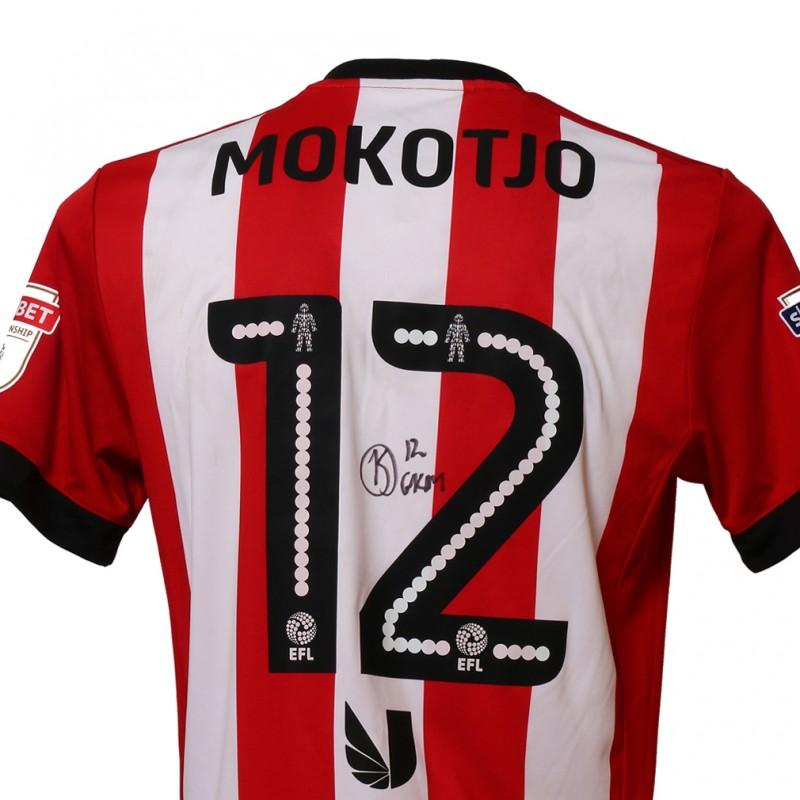 Official Poppy Shirt Signed and Worn by Brentford FC's Kamohelo Mokotjo
