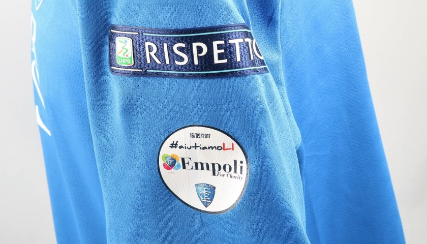Di Lorenzo's Match-Worn Shirt from Empoli-Ascoli with a Special #AiutiamoLI Patch