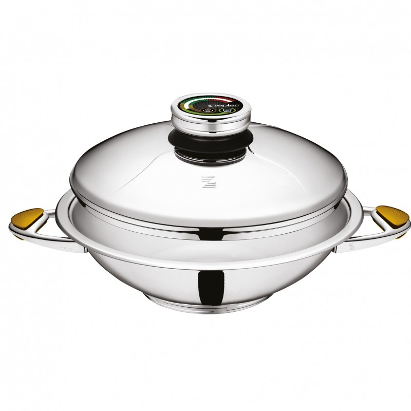 Steel Wok with Lid by Zepter International
