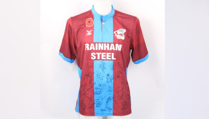 Scunthorpe Official Poppy Shirt Signed by the Team
