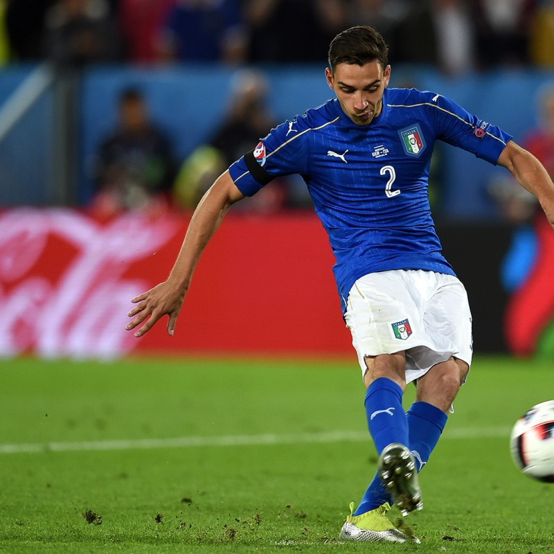 De Sciglio Match issued/worn shirt, Italy-Germany 15/11/2016