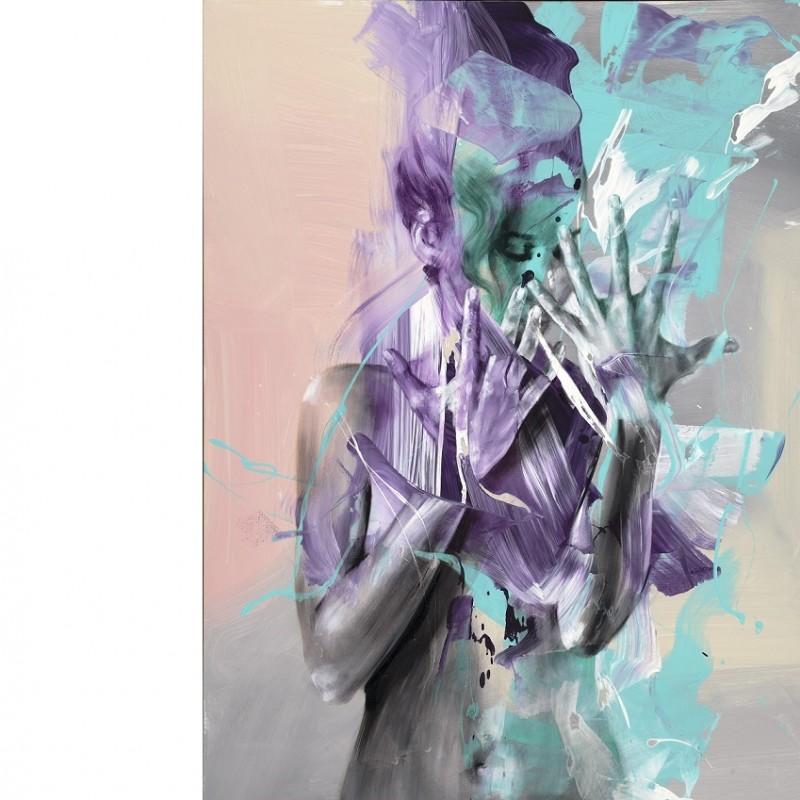 "Pier Toffoletti ""Body Splash 29416"" - original graphic art on paper - 70x50 cm"