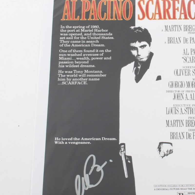Scarface Poster Signed by Al Pacino
