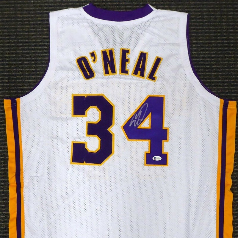 Shaquille O'Neal Signed White Los Angeles Jersey